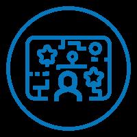 Aplicativos gamificados de avaliação e mapeamento de perfil